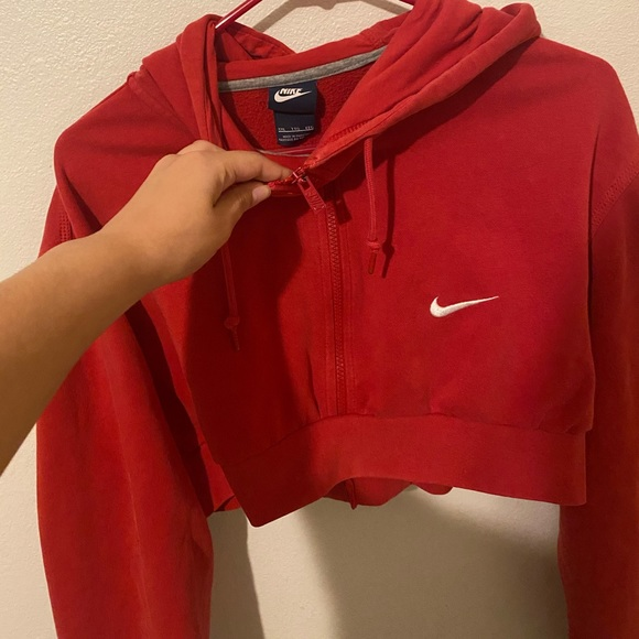 Nike Tops | Cropped Red Nike Sweater